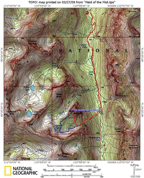 Route with Topo