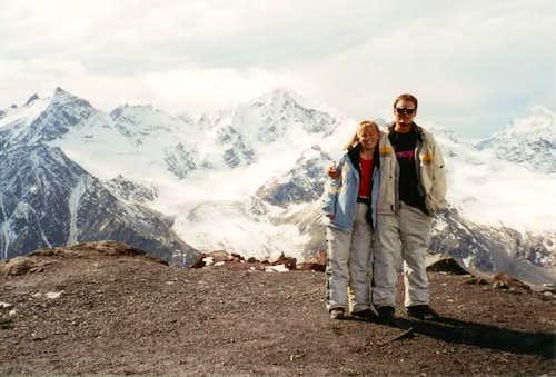 Peaks and glaciers viewed...