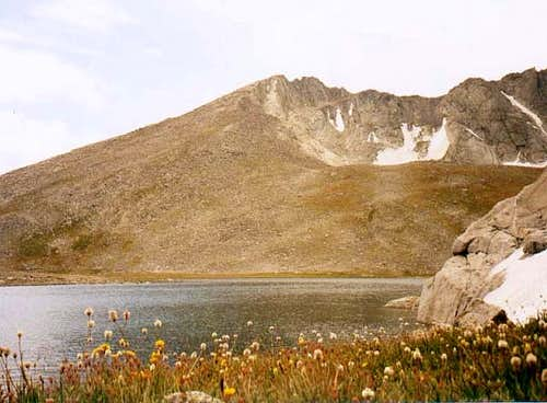 Summit Lake and Mt. Evans....