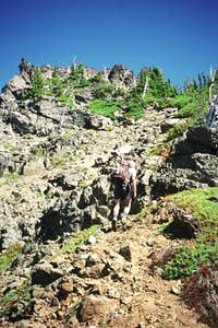 Gully leading to summit