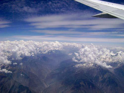 Flyiing over Skardu