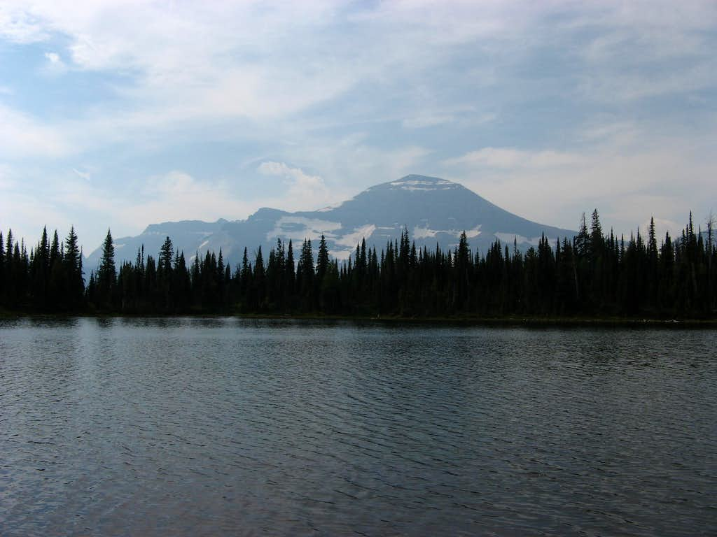 Chapman (L) and Custer (R) from Waterton's Summit Lake