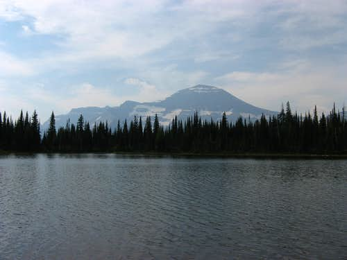 Chapman (L) and Custer (R) from Waterton\'s Summit Lake
