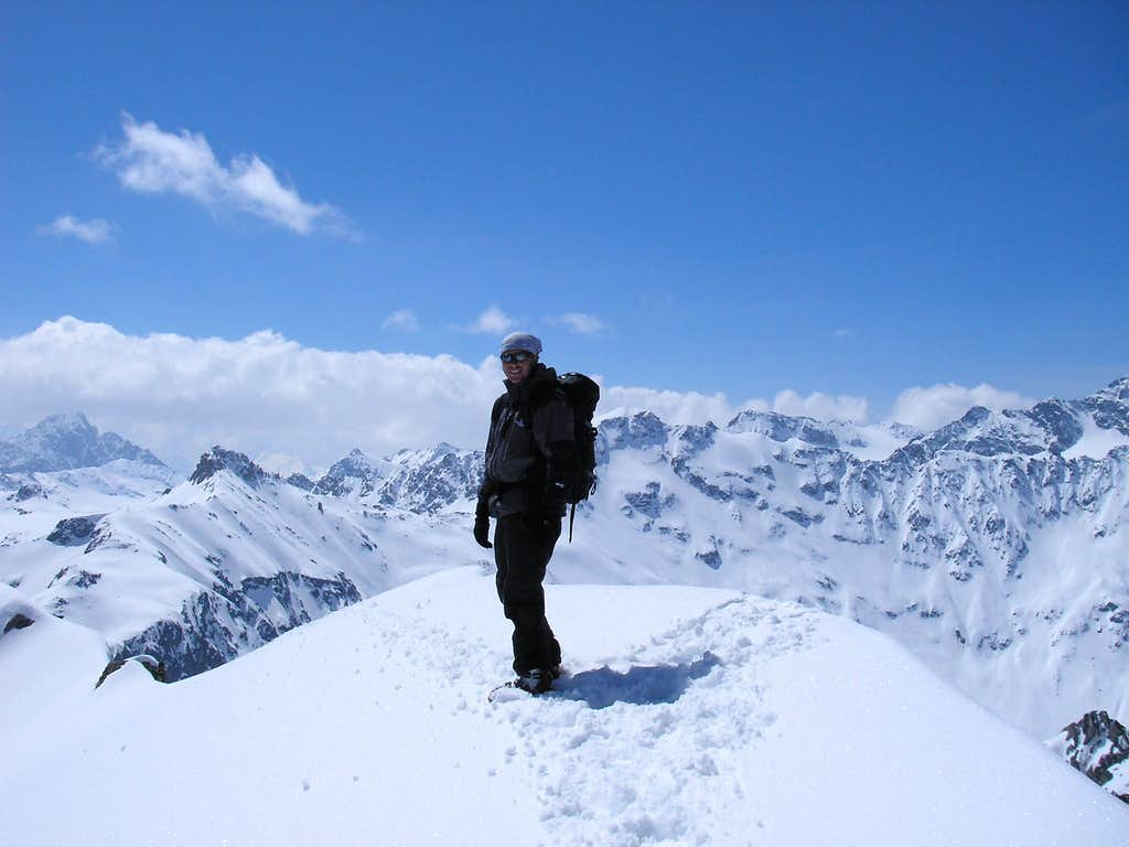 Summit of Piz Bleis Marscha 3128m