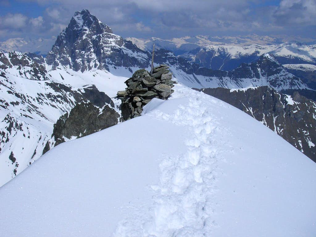 Summit of Piz Bleis Marscha 3128m