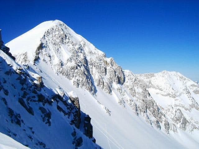 The intended ski line