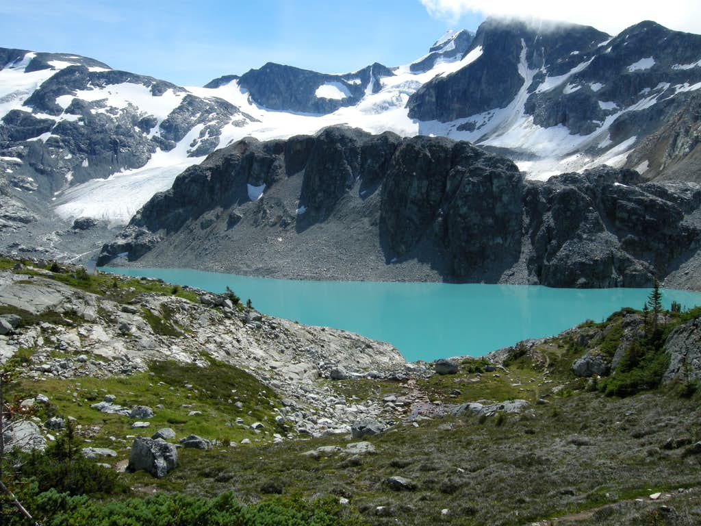 Arriving at Wedgemount Lake