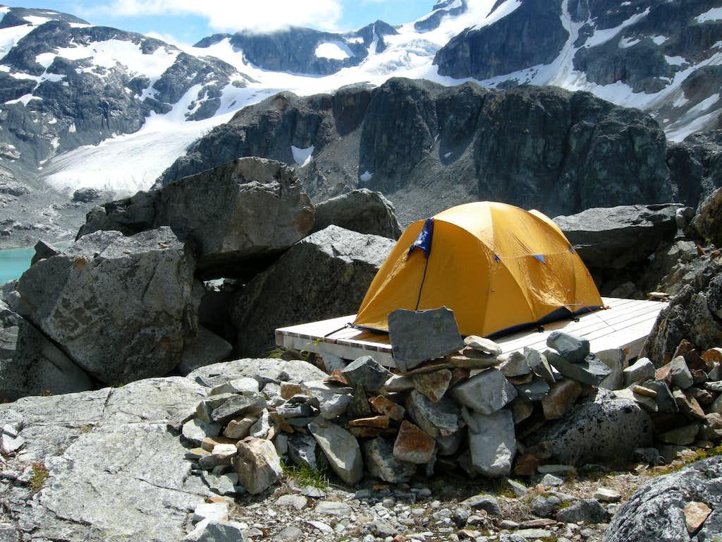 Tent Platforms at Wedgemount Lake