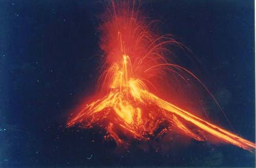 Arenal Eruption in 2000. 