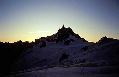 Dent de Géant early in the...
