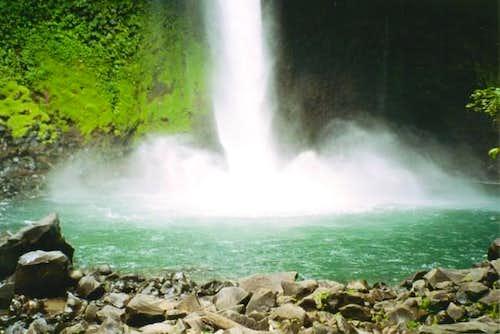 Fortuna Waterfall, on the...