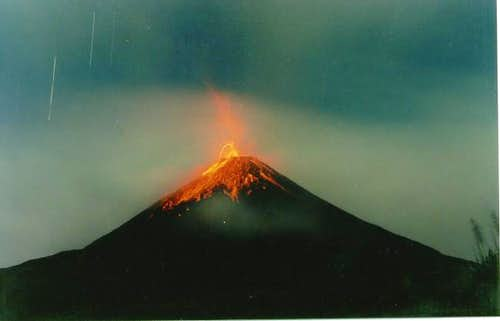 Exploding Arenal during the...