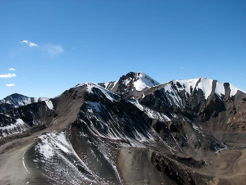 Panorama from Mt Ngontan (5702m)