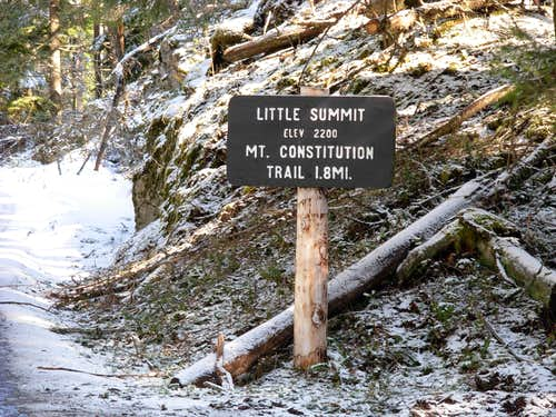 Little Summit Sign