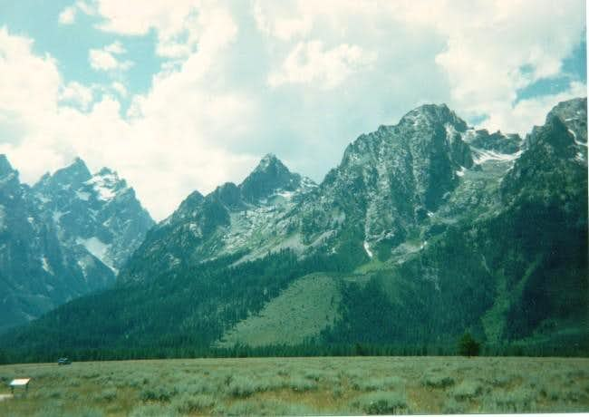 Grand Teton/Mt Owens (left)...
