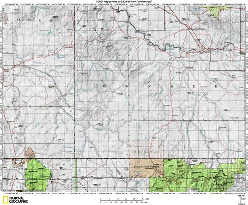 Owyhee Canyonlands Map