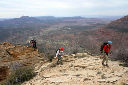 Final steps to summit of The Watchman