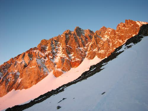 Morning Alpenglow on Split