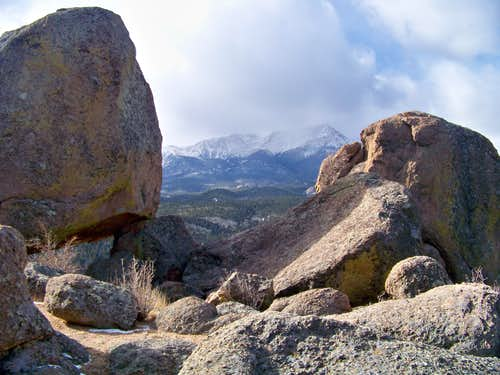 Pikes Peak from just below Rocky Mountain summit