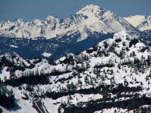 Gallatin Peak from 19 miles
