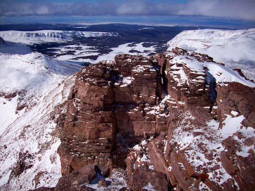 View NE over false summit