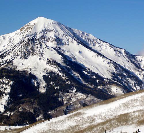 Box Elder Peak from the east