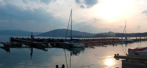 Attersee, evening panorama...