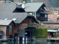 Old houses in Unterach, on the shores of the Attersee
