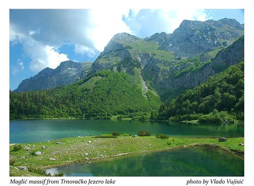 Maglic from Trnovacko Jezero lake