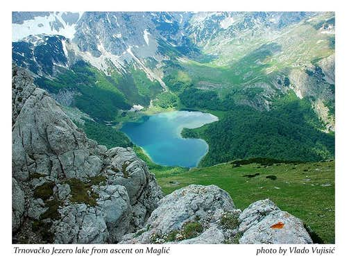 View to Trnovacko Jezero lake