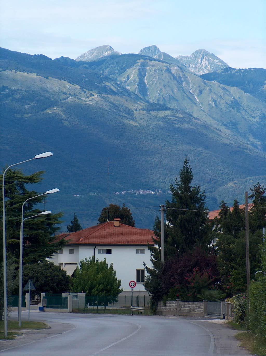The Italian Alps as seen from near Sarone di Caneva
