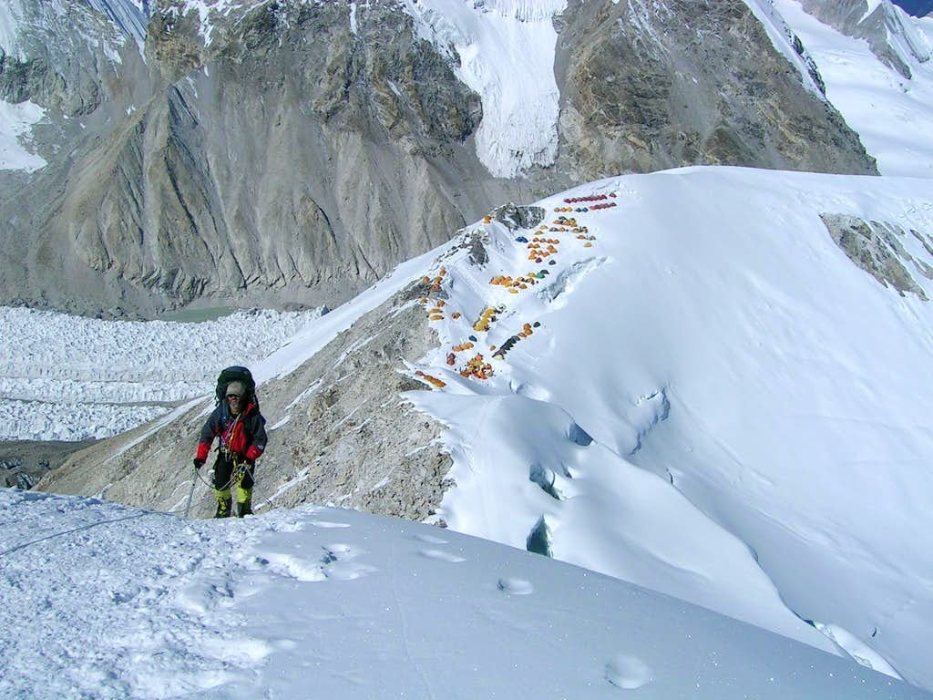 On Ridge Above Camp 1