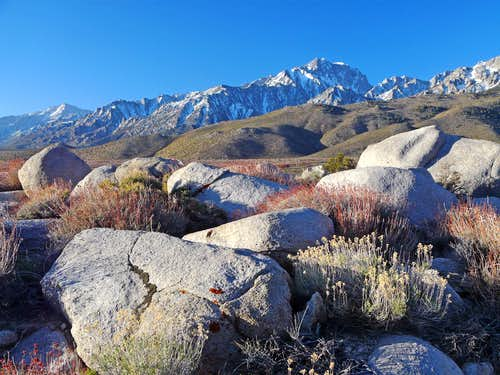 Eastern Sierra from Independence Creek