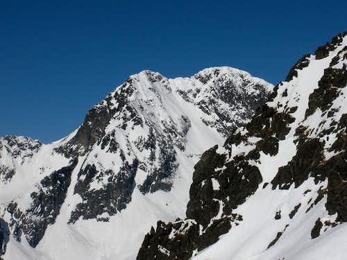Ľadový štít from Lomnické sedlo