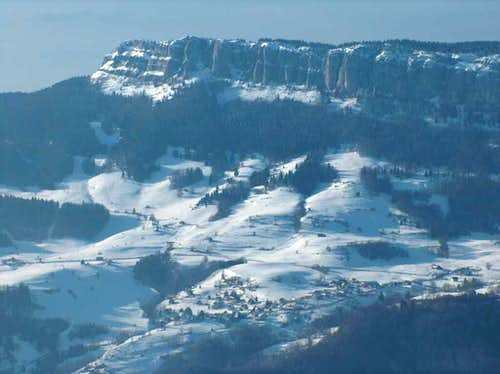 Looking West from the Croix de l'Alpe in the Chartreuse.