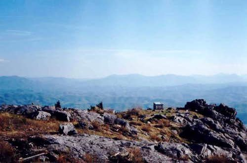 The summit in warm weather.
