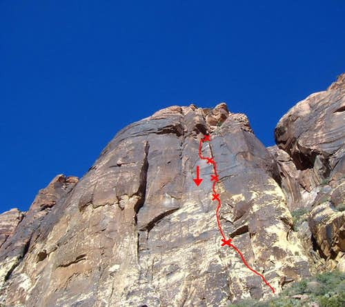 High Anxiety, 5.10c, 6 Pitches