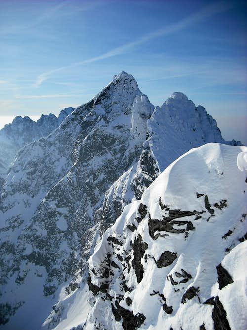 Vysoka seen from Rysy ridge