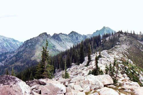 Ridge of Peak 7,623 and Fenn Mt - Selway Crags