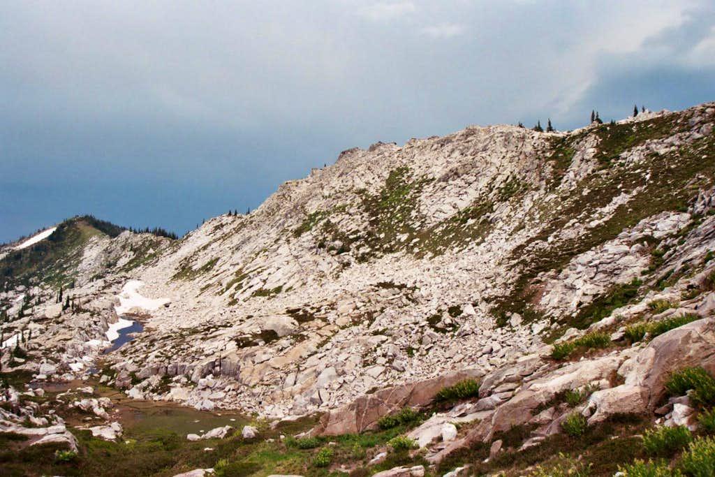 East Shelf below Peak 7,623