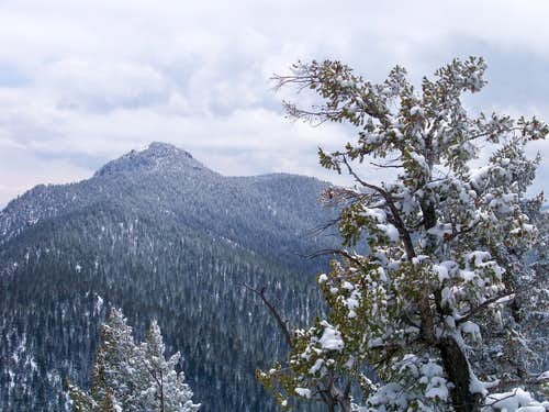 April snows on Mount Herman