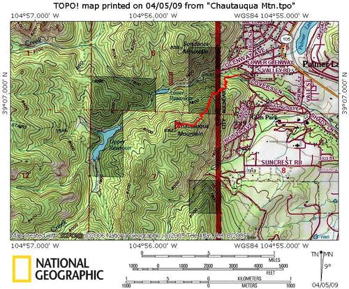 Chautauqua Mountain Trail Map