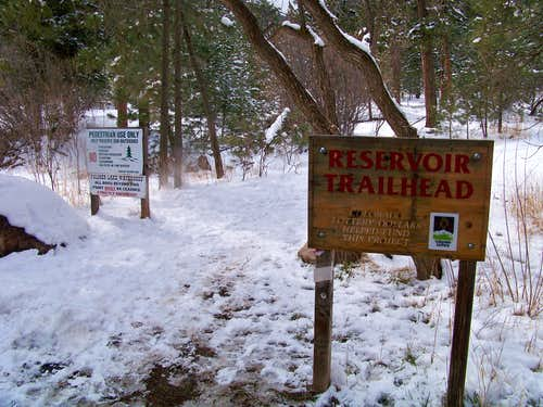Reservoir Trailhead to Chautauqua Mountain Trail