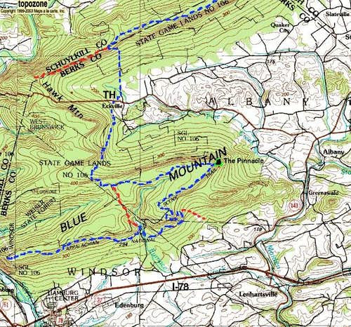 Map of the Appalachian Trail...