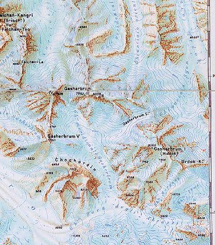 Map of Gasherbrums
