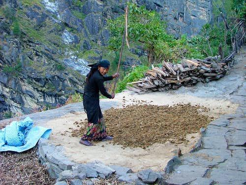Budhi Gandaki river valley