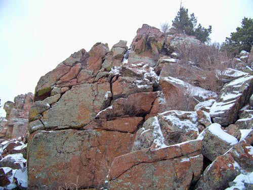 Outcrop on  Notch Mountain
