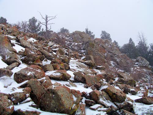 """Notch Mountain"" summit approach"