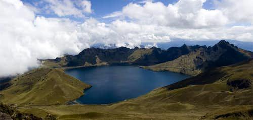 Mojanda Crater from the summit of Cerro Negro