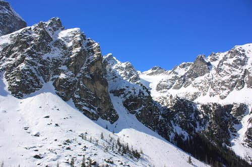 Snowy ridges - High Tatras